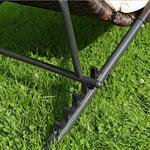 Rattan Lounger Sun Lounger Black/Brown Polyrattan Lounge Garden Lounger Pic:2