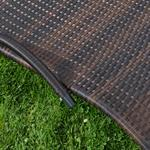 Rattan Lounger Sun Lounger Black/Brown Polyrattan Lounge Garden Lounger Pic:4