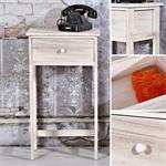 Telefontisch / Regal mit Schublade im Shabby Chic