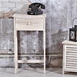 Telefontisch / Regal mit Schublade im Shabby Chic Pic:1