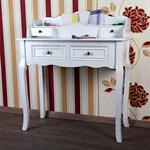 Country Secretary Bureau Escritoire Desk Antique White Table Vanity Shabby Chic