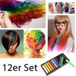 Haarkreide / Hair Chalk 12 Stück ver. Farben