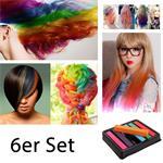 Haarkreide / Hair Chalk 6 Stück ver. Farben