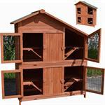 4 Boxen Kaninchenstall Hasenstall aus Holz