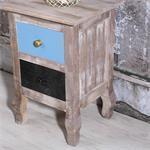 Landhaus Nachttisch mit 2 Schubladen Used Look Pic:2