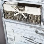 Shabby Schuhschrank Schuhkipper Vintage Weiß Pic:3