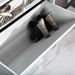 Shabby Schuhschrank Schuhkipper Vintage Weiß Pic:4
