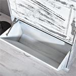 Shabby Schuhschrank Schuhkipper Vintage Weiß Pic:5