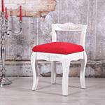 Antik Barock Sitzhocker mit Lehne in Weiß Pic:1