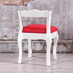 Antik Barock Sitzhocker mit Lehne in Weiß Pic:5