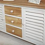 Sideboard braun/weiß mit 2 Türen + Schubfächer Pic:3