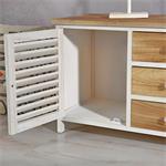 Sideboard braun/weiß mit 2 Türen + Schubfächer Pic:5