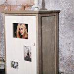 Hochschrank inkl. Tür mit Bilderrahmen in shabby Pic:2