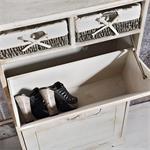 Shabby Schuhschrank Schuhkipper Vintage Braun Pic:5