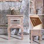 Shabby Nachttisch mit 1 Schublade Holz Braun