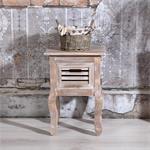 Shabby Nachttisch mit 1 Schublade Holz Braun Pic:1