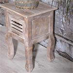 Shabby Nachttisch mit 1 Schublade Holz Braun Pic:2
