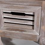 Shabby Nachttisch mit 1 Schublade Holz Braun Pic:4