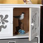 Chest of Drawers Country Style Cabinet Sideboard Bathroom Rack Wood White/Grey Pic:2