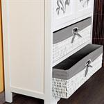 Chest of Drawers Country Style Cabinet Sideboard Bathroom Rack Wood White/Grey Pic:3