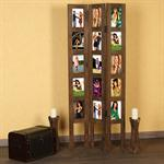 15 Photos Picture Gallery Room Divider made of Wood Shabby Chic Brown Frame