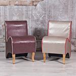 Mini Polster Sessel Stuhl - Lila  / Creme Pic:6