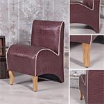 Mini Polster Sessel Stuhl - Lila  / Creme