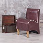 Mini Polster Sessel Stuhl - Lila  / Creme Pic:1