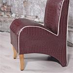 Mini Polster Sessel Stuhl - Lila  / Creme Pic:2