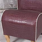 Mini Polster Sessel Stuhl - Lila  / Creme Pic:4