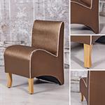Mini Polster Sessel Stuhl - Braun / Goldbraun
