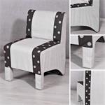 Mini Polster Sessel Stuhl - Grau / Schwarz