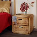 Design 3 Piece Drawer Night Stand Bedside Table Cabinet Wood Brown Pic:1