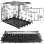 M Hundetransportbox Hundeklappkäfig Gitter schwarz
