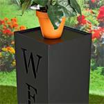 Garten Dekosäule aus verzinktem Blech - Welcome Pic:3