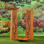 Garten Dekosäule mit Pflanzschale aus Edelrost Pic:3