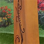 Garten Dekosäule mit Pflanzschale aus Edelrost Pic:6