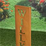 Garten Deko Ständer aus Edelrost - Wilkommen Pic:3