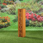 Garten Dekosäule aus Edelrost - Welcome Pic:1