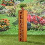 Garten Dekosäule aus Edelrost - Welcome Pic:2