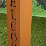 Garten Dekosäule aus Edelrost - Welcome Pic:3