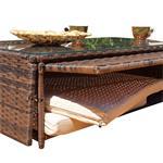 Rattan Sofa inkl. zwei Sesseln und Tisch - Braun Pic:4