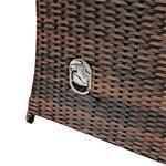 Rattan Sofa inkl. zwei Sesseln und Tisch - Braun Pic:6