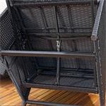 Rattan Sofa inkl. zwei Sesseln und Tisch - Schwarz Pic:7