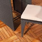 3tlg. Polyrattan Sitzgruppe Stühle + Tisch schwarz Pic:2