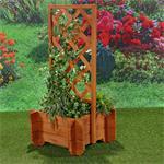 Blumenkübel mit Rankgitter Holz Pic:1