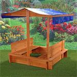 Sandkiste mit Sitzbänken inkl. Dach/Deckel