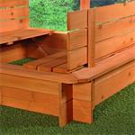 Sandkiste mit Sitzbänken inkl. Dach/Deckel Pic:2