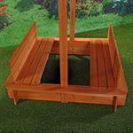 Sandkiste mit Sitzbänken inkl. Dach/Deckel Pic:3