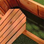 Ovaler Blumenkübel aus Holz inkl. Rankgitter Pic:2